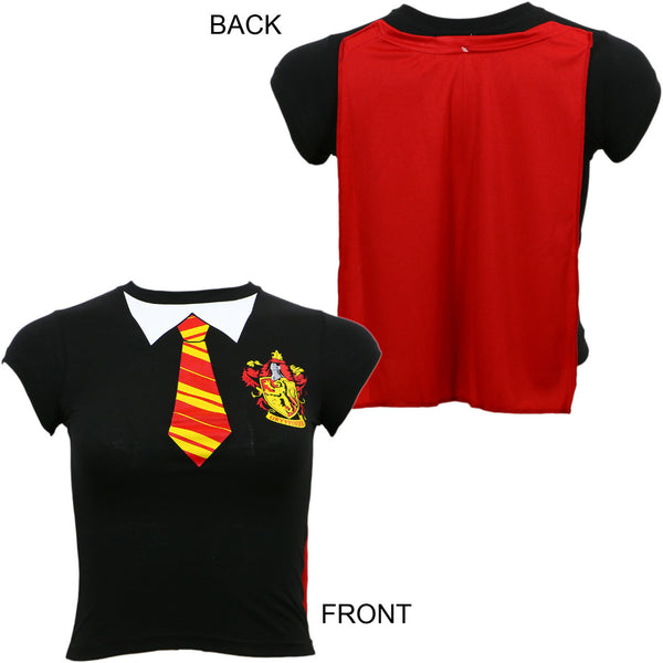 Harry Potter Gryffindor Uniform Girls Youth Cape Tee T-Shirt