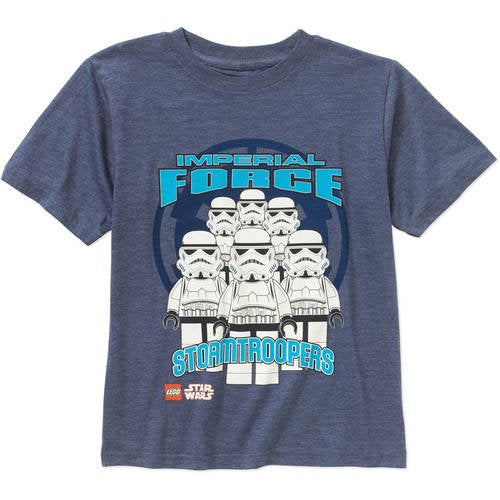 Boys Blue Heather Lego Star Wars Imperial Force Graphic Tee T-Shirt