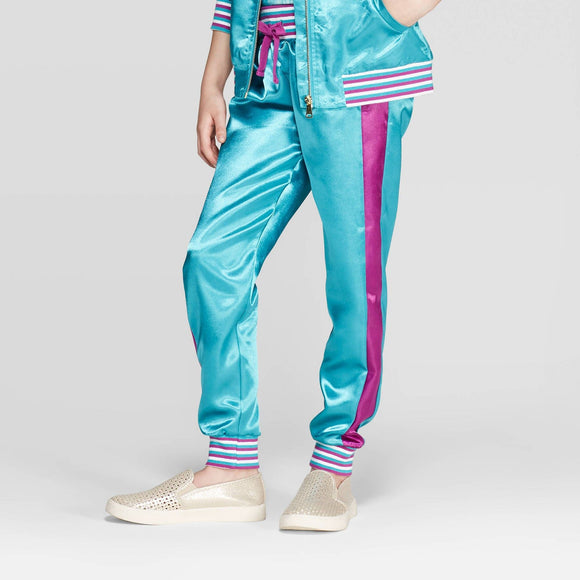 Girls Youth Aladdin Jogger Pants Turquoise Purple