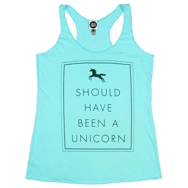 Womens Lost Gods Should have been a Unicorn Racerback Tank Top
