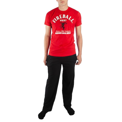 Men's Fireball Whisky Tee & Sleep Pants Set