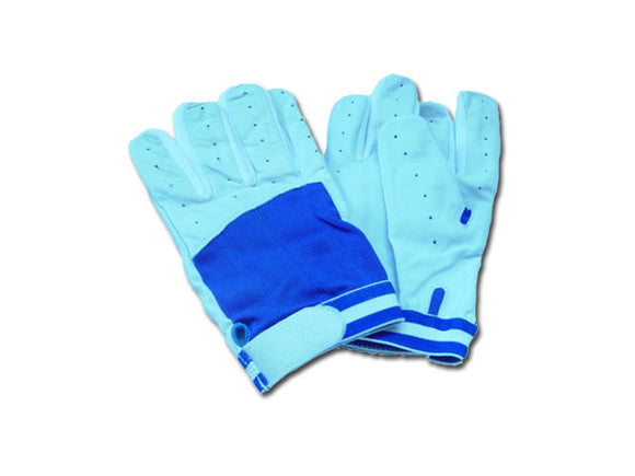 REX 347-BL Blue Baseball Batting Gloves