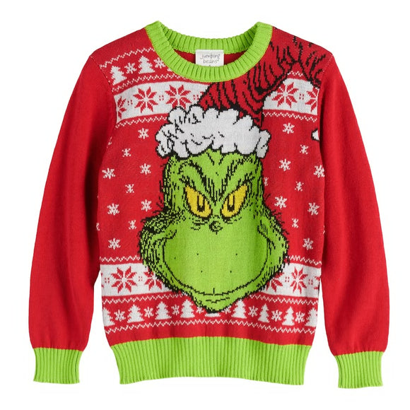 Boys 4-12 Jumping Beans® The Grinch Ugly Holiday Sweater Pullover