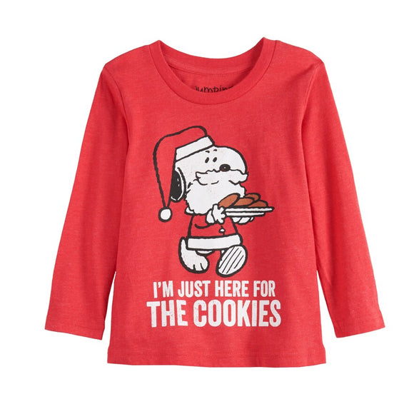 Boys Toddler Jumping Beans® Snoopy Here For The Cookies Long Sleeve Tee T-Shirt