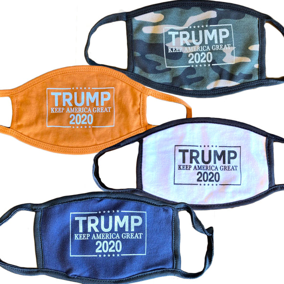 Trump 2020 Mixed Washable Reusable 100% Cotton Face Mask Package 100 Masks