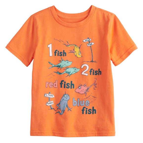 Boys 4-12 Jumping Beans® Dr. Seuss 1 Fish 2 Fish Tee T-Shirt