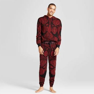 Men's Spider-Man Marvel 2PC Hoodie Pajama Set