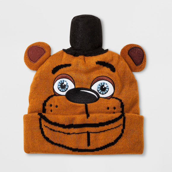 Boys' Five Nights At Freddy's Fazbear Beanie Brown