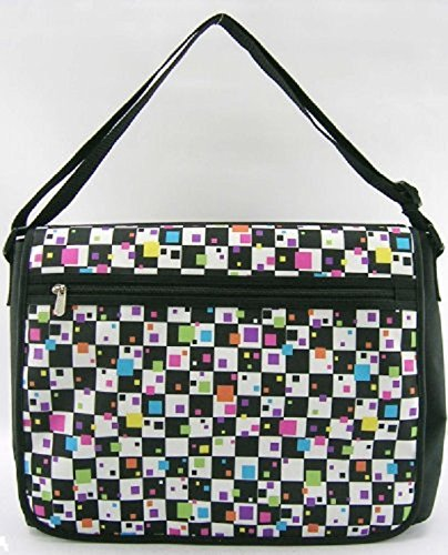 Global Degree Double Sided Messenger Bag - Checker Print