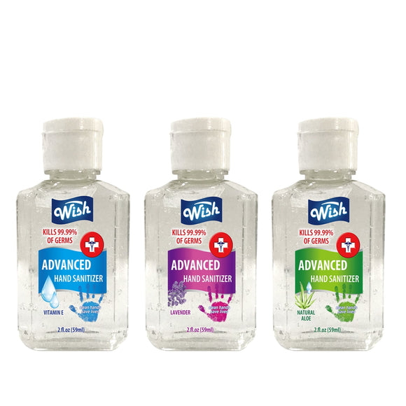WS 60218 Wish Hand Sanitizer 2oz 3PK Box Set Pocket Size Assorted Scents