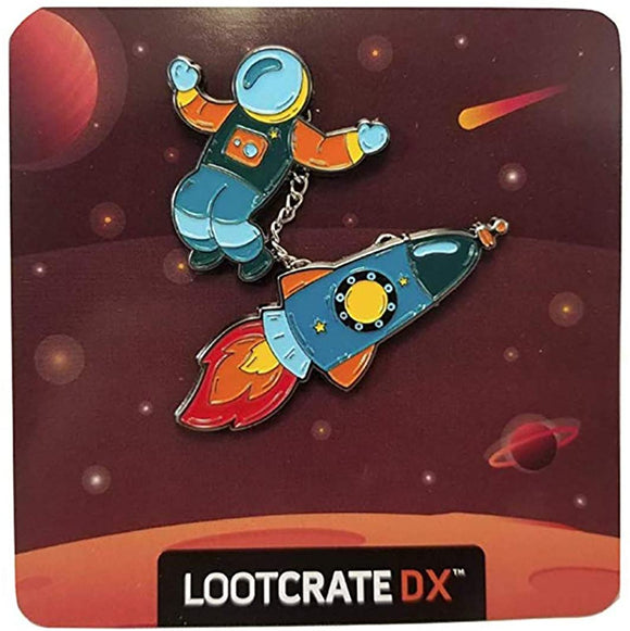 Loot Crate DX Cosmic Adventure Pin Astronaut & Rocket Ship Pin