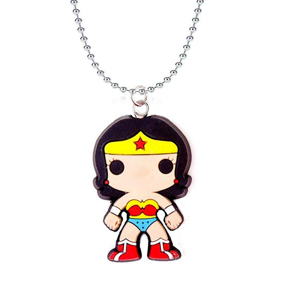 Wonder Woman Funko Pop Heroes Chain Rubber Pendant Necklace