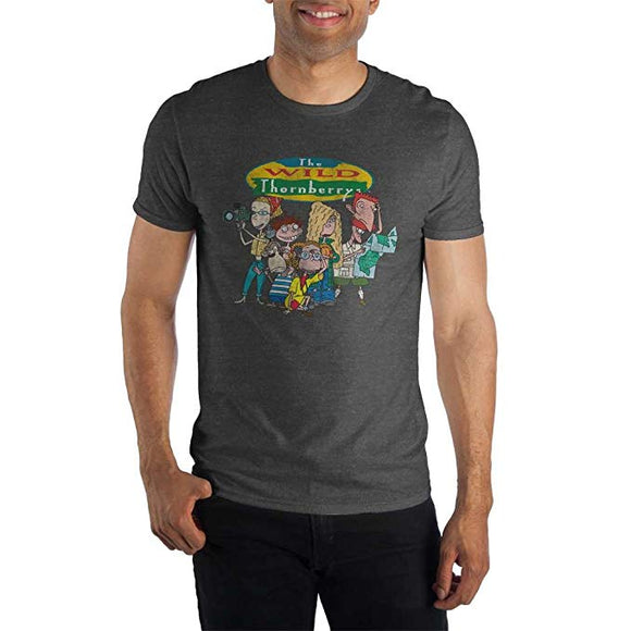 Mens Dark Grey The Wild Thornberrys Nickelodeon TV Show T Shirt Tee