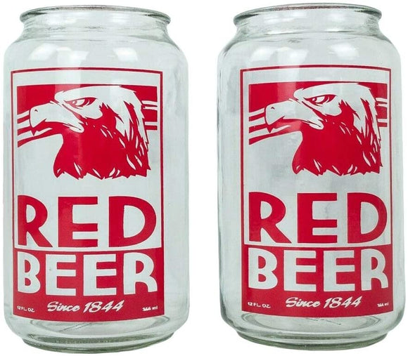 Archer Red Beer Glass Set