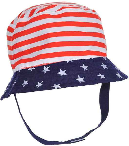 Little Me Baby Boys' Patriot Chill USA Stars & Stipes Reversible Sun Hat
