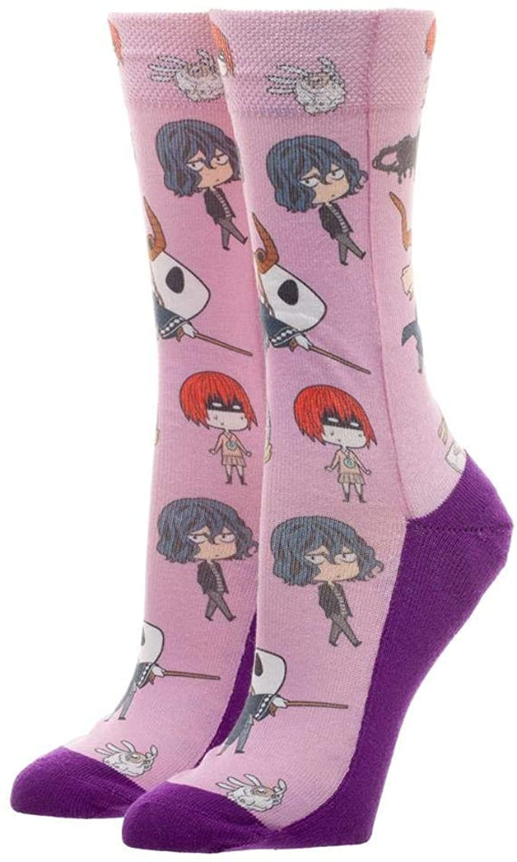 Ancient Magus Bride Crew Sock JRS Sublimated