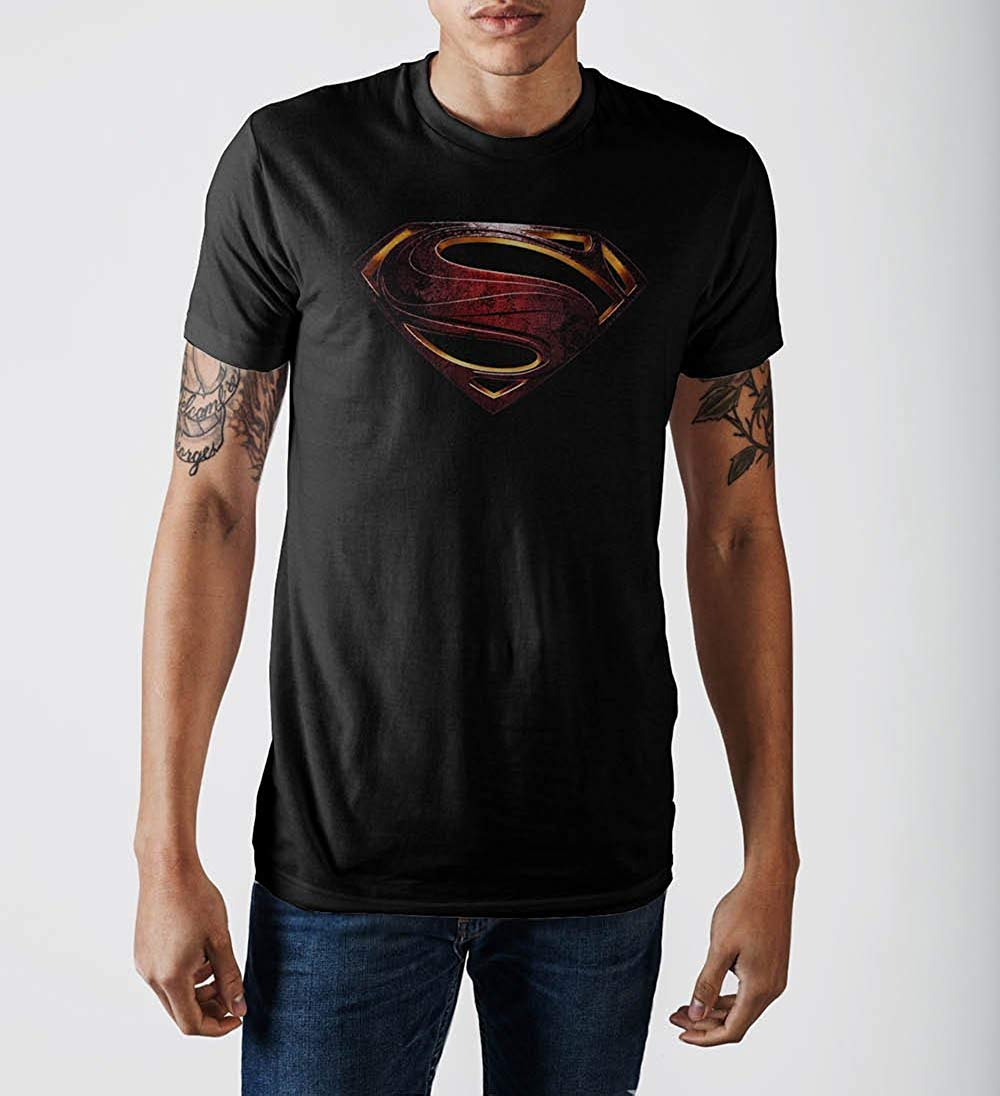 2c9eaad7 Mens DC Comics Justice League Superman Logo Tee T Shirt – Rex ...