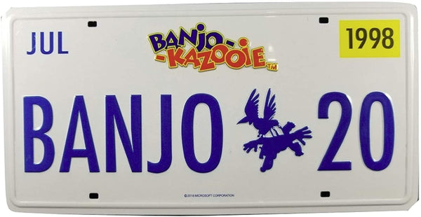 Loot Gaming July 2018 Banjo Kazooie License Plate Tin Print Plate - 8 x 4 in