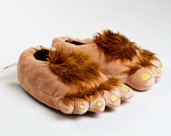 Novelty Warm House Slippers Hobbit Furry Adventure Slippers for Adults
