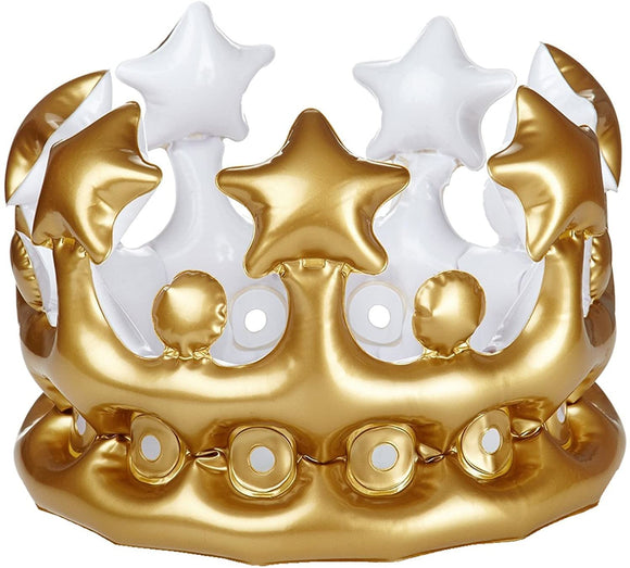 Metallic Gold Inflatable Crown - Loot Crate Exclusive