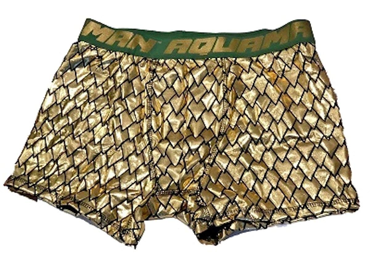 limited sale best place search for newest Men's DC Comics Aquaman Justice League Gold Lame Boxer Briefs