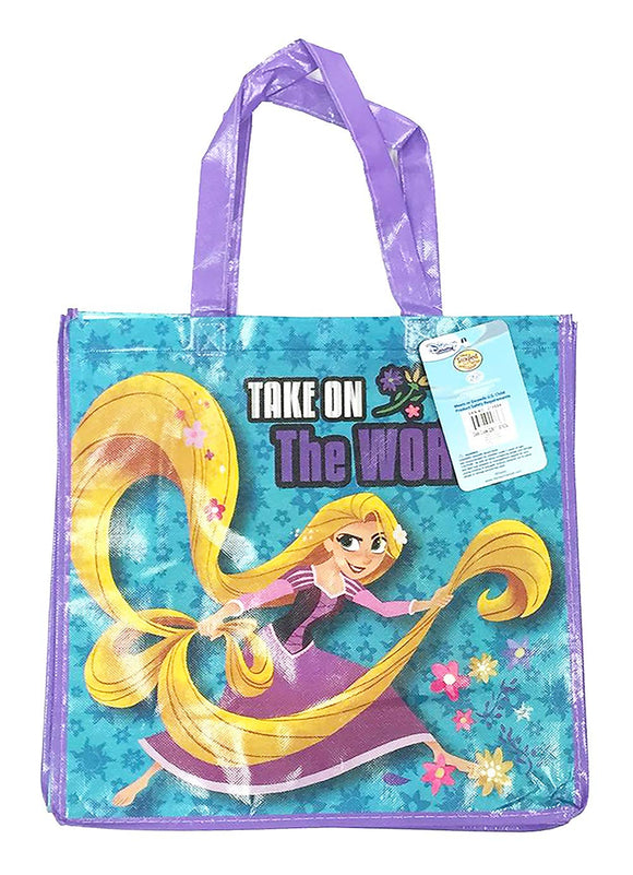 Disney Rapunzel Take On The World Reusable Shopping Bags Foldable Large Tote Bag Gift