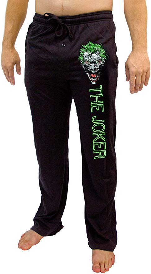 Men's DC Comics The Joker Batman Knit Graphic Sleep Lounge Pants Pajama Bottoms
