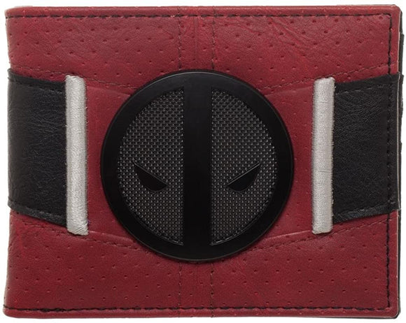 Deadpool Uniform BiFold Wallet  Marvel Anti-Hero Costume ID Holder, Red, One Size