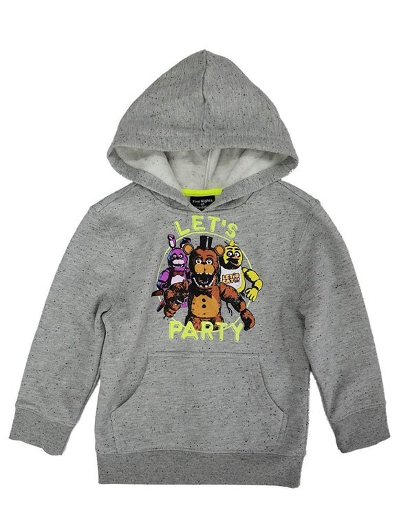 Boys Youth Grey Heather Five Nights at Freddy's Let's Party Pullover Hoodie