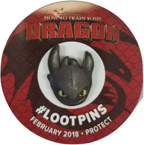 DreamWorks Loot Crate How to Train Your Dragon Toothless Pin
