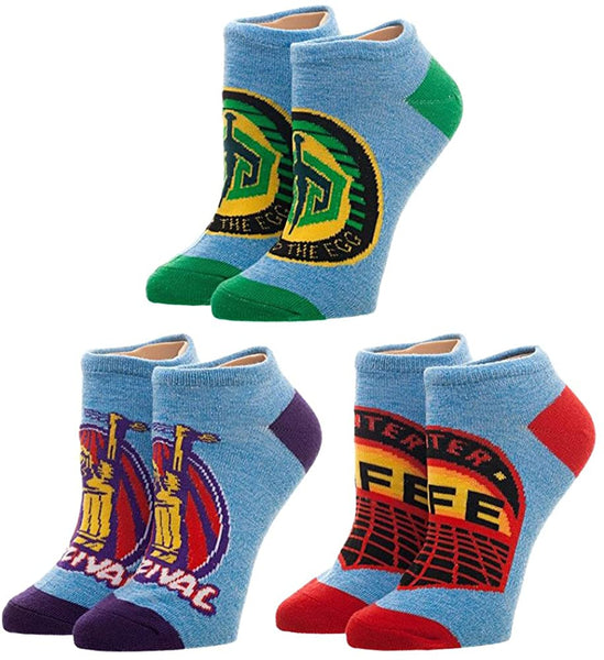 Ready Player One 3 Pack Juniors Ankle Socks Set