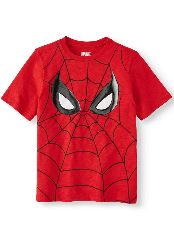 Boy's Marvel Spider-Man Big Face Graphic Tee T-Shirt