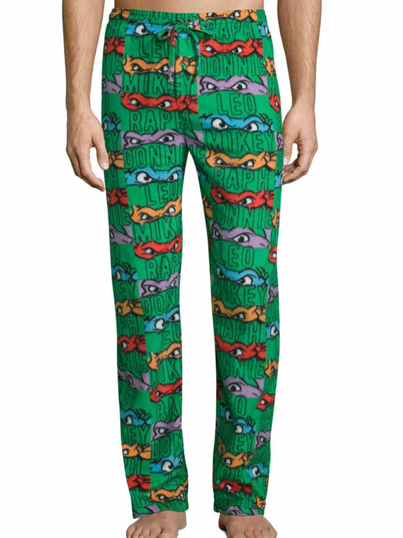 Men's Teenage Mutant Ninja Turtles Microfleece Sleep Pants Pajama Bottoms