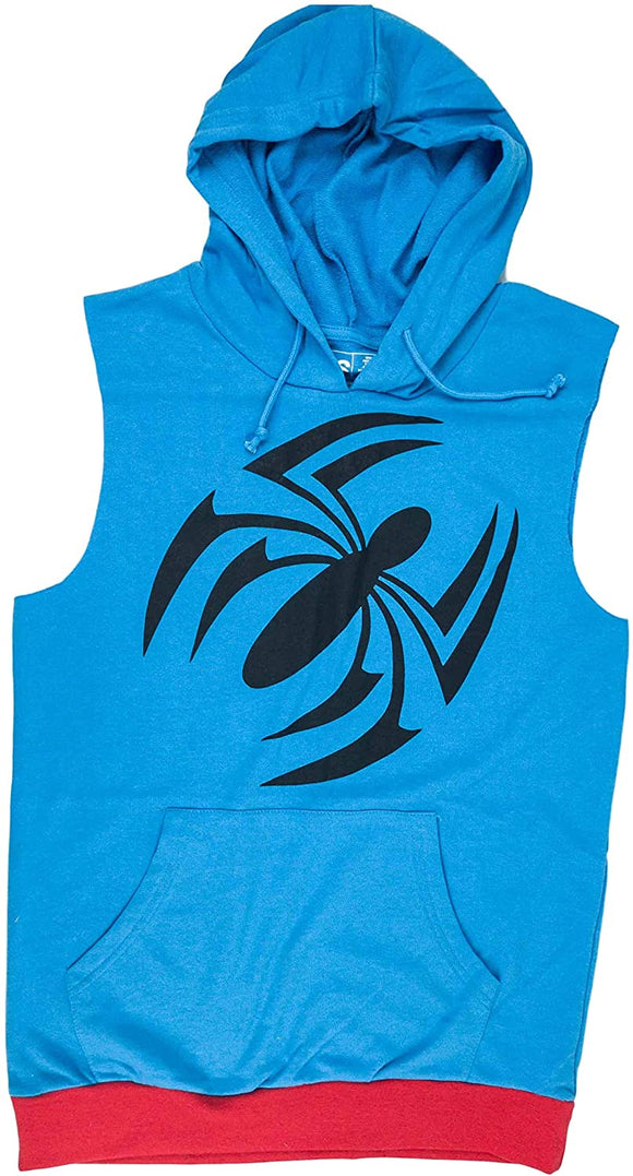 Men's Loot Crate Spiderman Spider Man Sleeveless Blue Hoodie Pullover