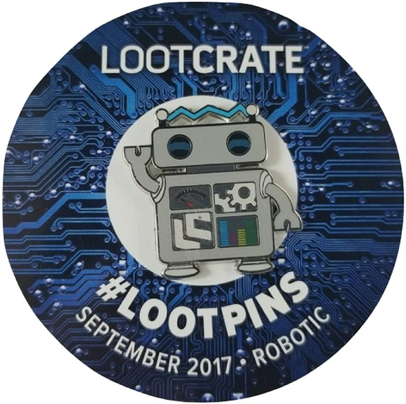 Loot Crate Robotic Waving Enamel Pin