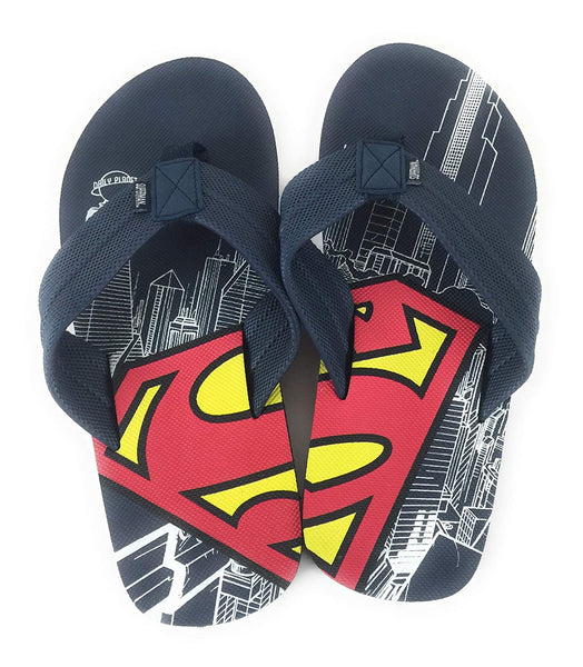 Men DC Superman Comic Flip Flop Sandal Navy