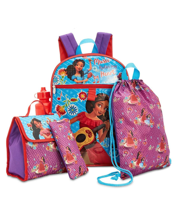 Princess Elena of Avalor 5 Piece Backpack & Accessories Set, Little & Big Girls