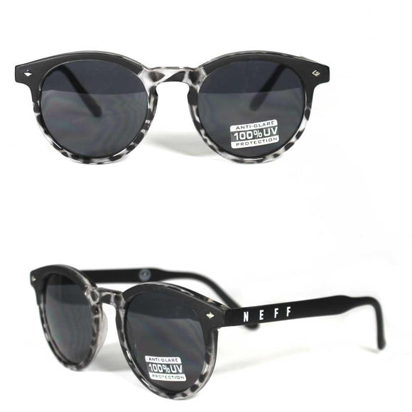 Neff Classic 99353 Sunglasses Shades Glasses Black White Leopard Print
