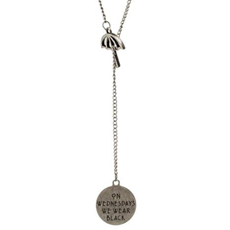 American Horror Story On Wednesdays we wear black umbrella necklace