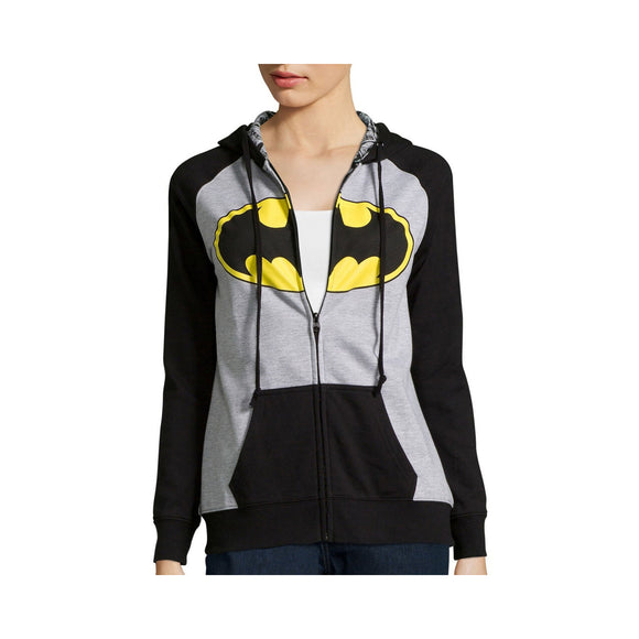 Womens Juniors Gray DC Comics Batman Batgirl Zip Hoodie