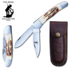 "BC 817 - 5"" Bone Handle Hunting Knife"