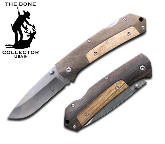 BC 840 Wood Handle Folding Knife