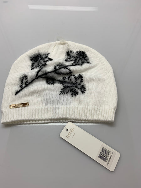 Laundry By Shelli Segal Women White Flower Beanie One Size
