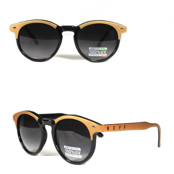 Neff Classic 99355 Sunglasses Shades Glasses Black Gold Frames