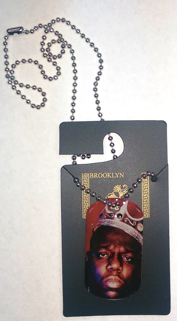Notorious BIG Necklace Dog Tag Ready To Die Neck Chain