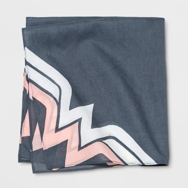 Junk Food Wonder Woman Printed Bandanna Black Pink