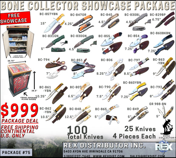 Package Deal #75 - Bone Collector Showcase Package Deal - Free Shipping