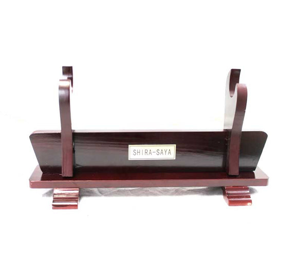 BP 010089-R Red Shira-saya Samurai Katana Wood Sword Stand