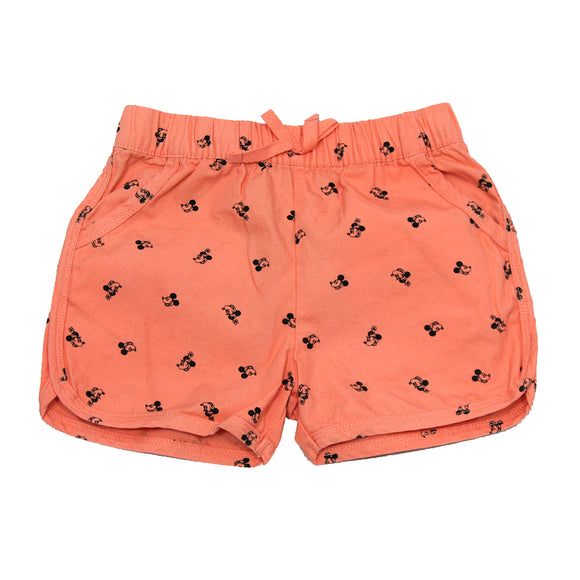 Toddlers Pink Mickey Mouse Shorts