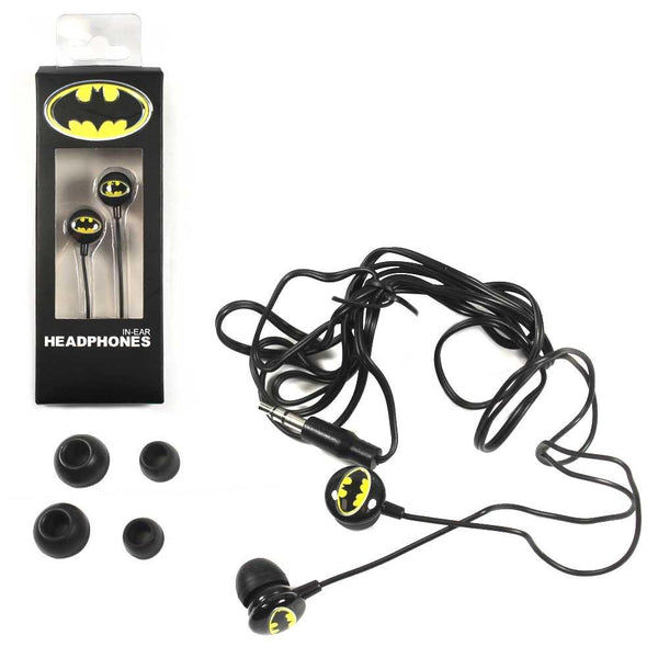 Batman In Ear Headphone Ear Buds DC Comics Music